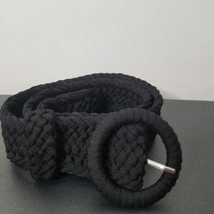 Banana Republic Black Woven Belt Size M